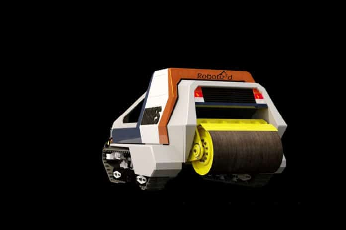 Artist's impression of Robotiz3d's ARRES model (Autonomous Road Repair System)