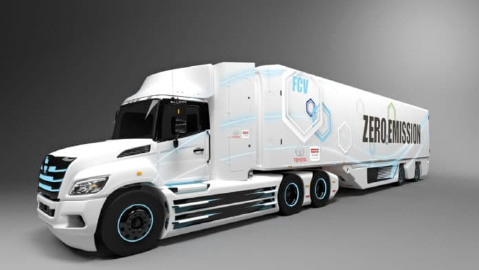 Toyota and Hino partner to develop class 8 fuel cell electric truck.