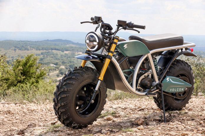 Volcon Grunt, a fat-wheeled all-terrain electric off-road bike.