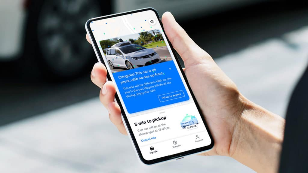 Waymo One users in Phoenix are now able to book a fully driverless ride through an app.