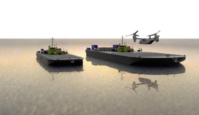 Department of Defense taps Sea Machines for autonomous VTOL replenishment vessels.