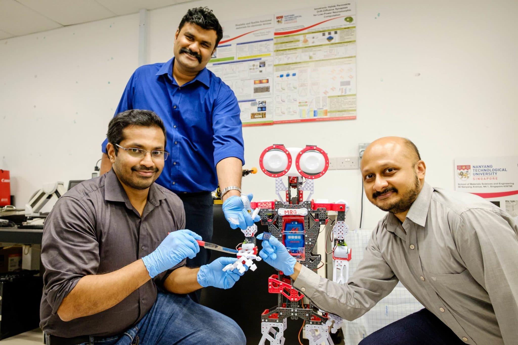 AI-powered mini-brain help robots recognize pain and self-repair