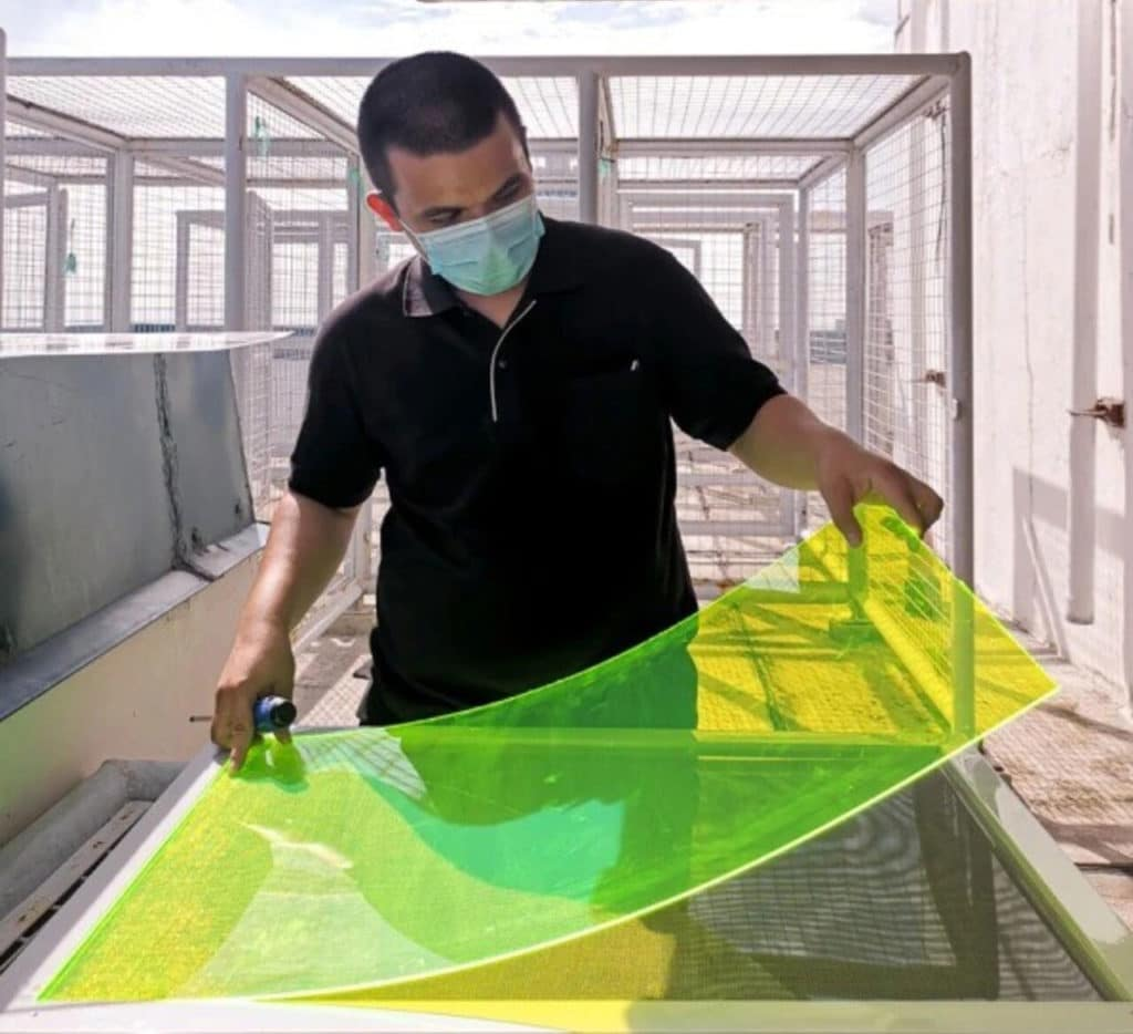 Solar panel created from upcycled crop waste produces energy even if the sun isn't shining.