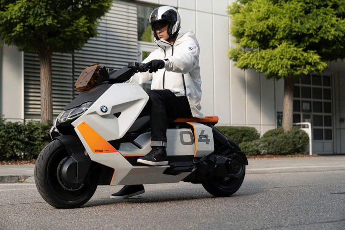 BMW Motorrad unveils new electric scooter concept designed for the city.