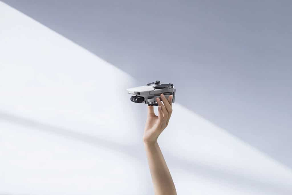 This extremely tiny quadcopter fits smoothly in the palm of the person.