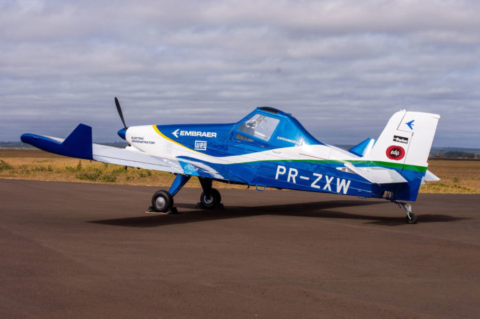 The project utilizes the EMB-203 Ipanema as its test bed.