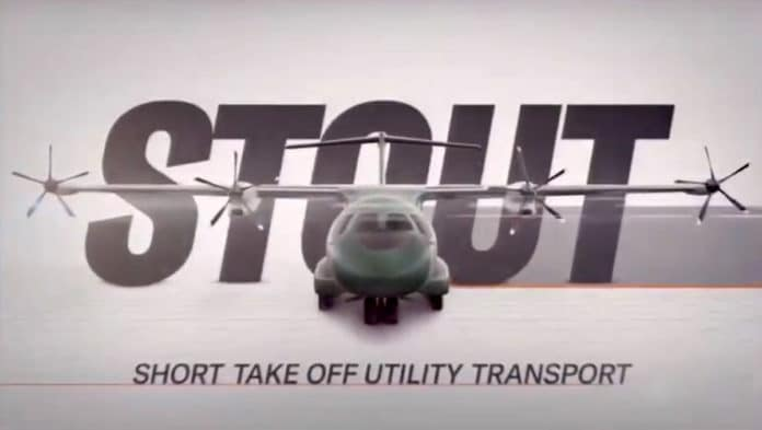 Emerge shows first images of its hybrid-electric STOUT military aircraft.
