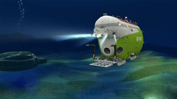 Crewed Chinese submarine dives to the Earth's deepest ocean trench