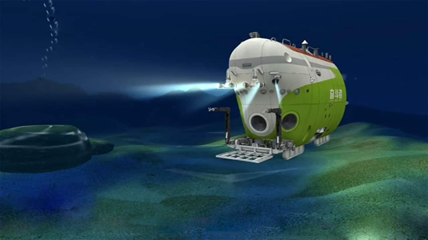 Crewed Chinese submersible dives to the Earth's deepest ocean trench