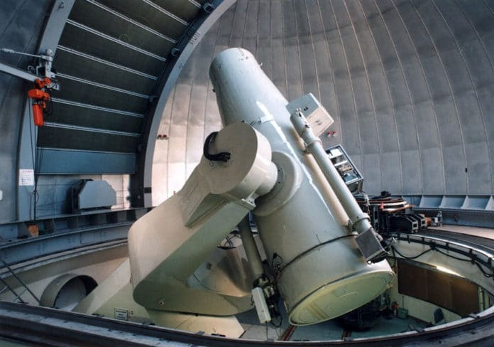 The 1.05-meter Kiso Schmidt Telescope was angled to point 100 km above the site of the MU radar.