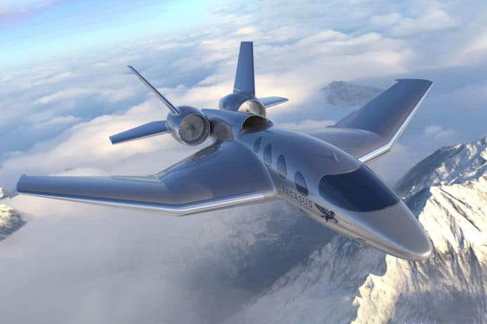Pegasus VBJ, a true business jet that can land on almost any surface.