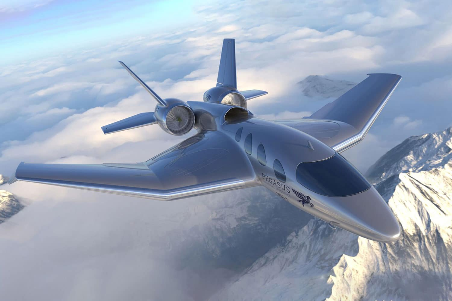 Pegasus VBJ, a true business jet that can land on almost any surface