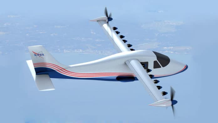 NASA's first all-electric X-plane, the X-57 Maxwell.