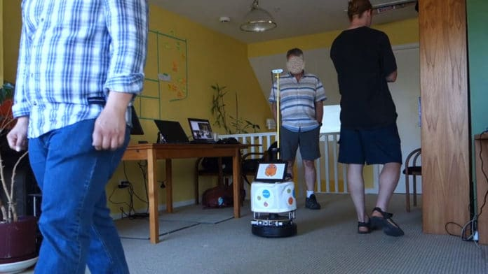 Robots were taught to track nearby person and follow them.