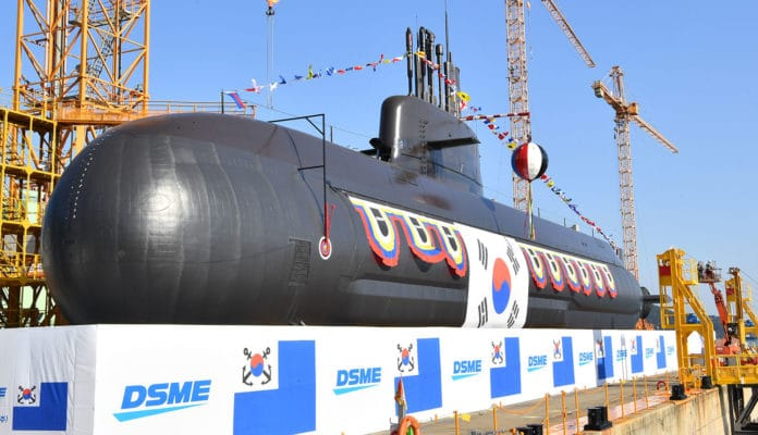 South Korea launches its new 3,000-ton ballistic missile launch submarine.