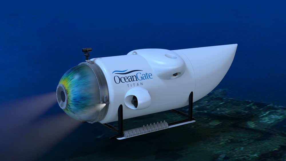 Titan, the world's only 5-person submersible capable of reaching 4,000 meters.