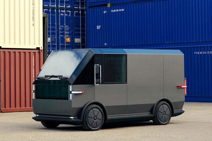 Canoo presents its second last-mile all-electric multi-purpose delivery van. Credit: Canoo