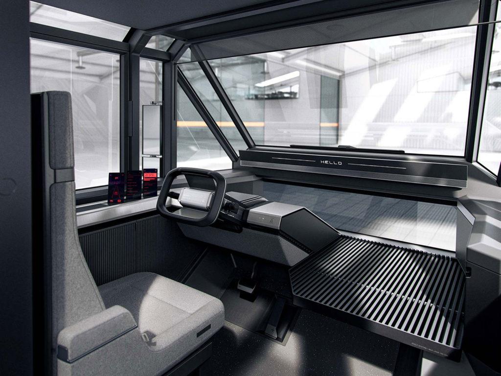 All-electric multi-purpose delivery van interior