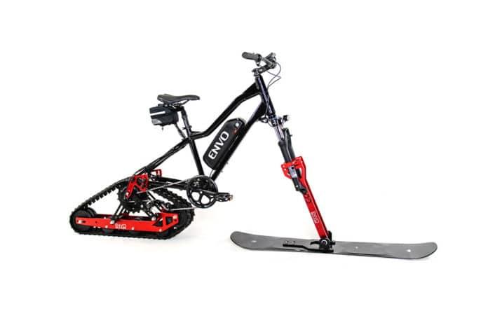 ENVO Electric SnowBike Kit turns mountain bikes into snow-going ebikes.