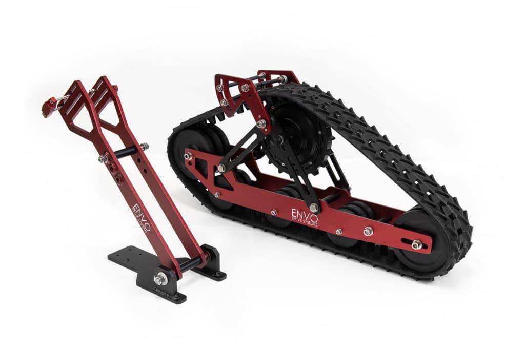 ENVO Electric-SnowBike Kit parts.
