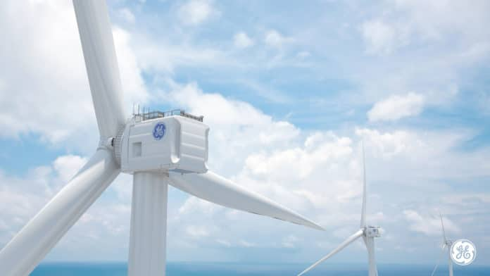 GE colossal Haliade-X turbines.