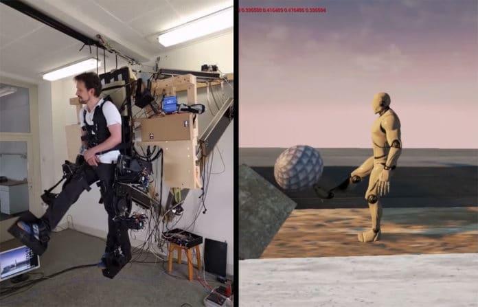 Holotron presents a full-body exoskeleton for walking in VR.