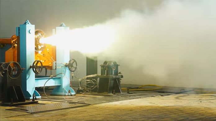Successful test firing of our Solid rocket propulsion stage demonstrator 'Kalam-5'.