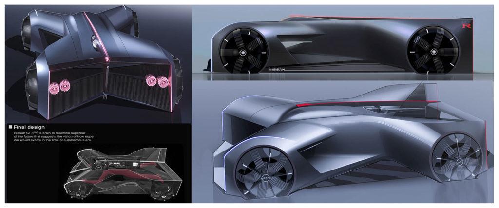 Nissan creatives mold a 1:1 model based on a senior design student's vision for a super autonomous future.