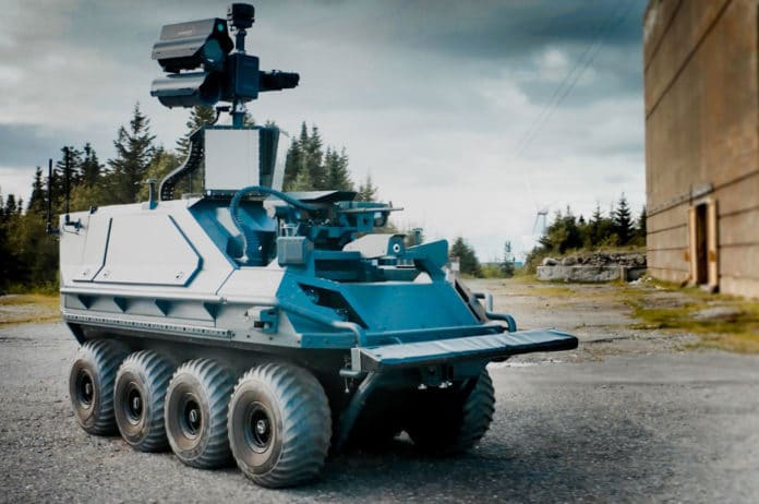 Rheinmetall's new Armed Reconnaissance system also provides fire support.