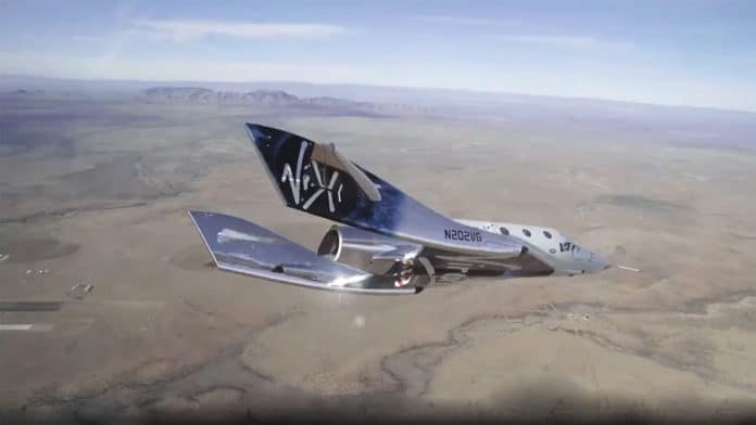 Virgin Galactic's SpaceShipTwo test ends due to rocket engine failure.