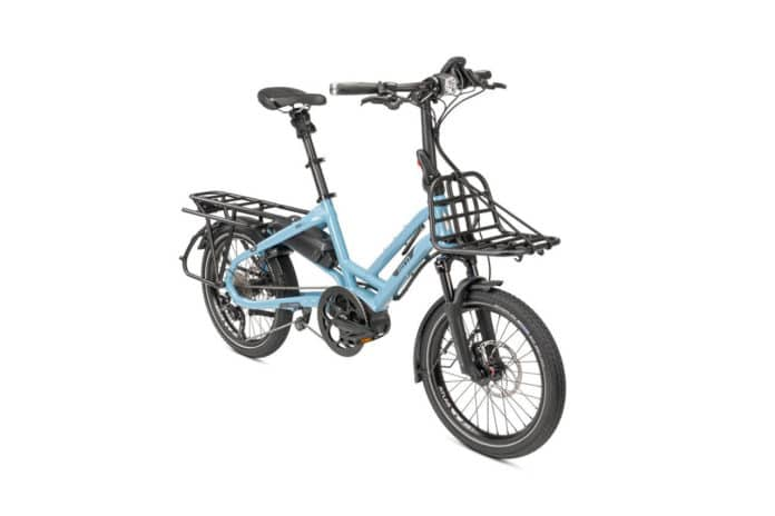 Tern Class 3 HSD S11 cargo e-bike allows riders get to 28 mph.
