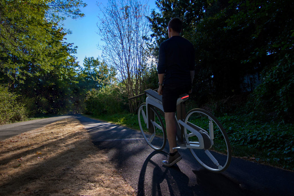 The concept forms a bridge between conventional bicycles and road-vehicles.