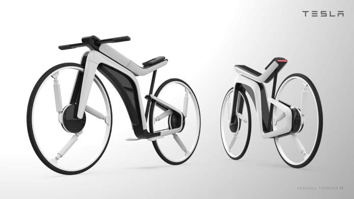 Tesla Model B, a futuristics electric bicycle concept by Kendall Toerner.