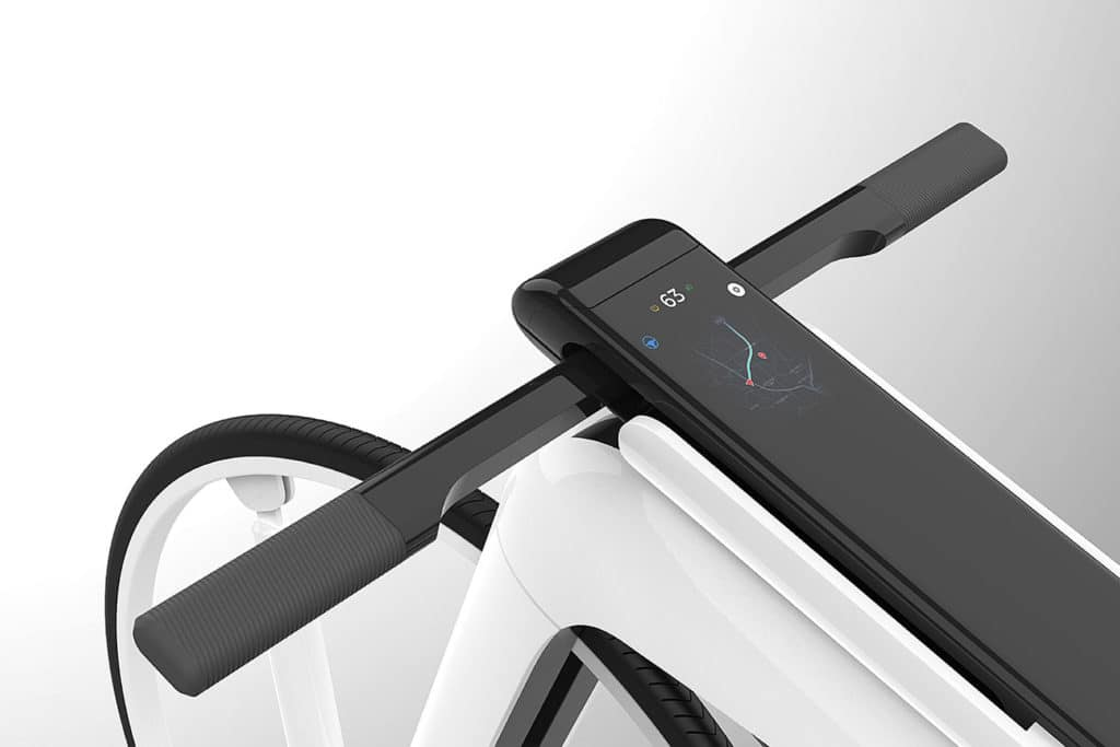 An integrated display makes it easy to navigate, control, and customize the bike.