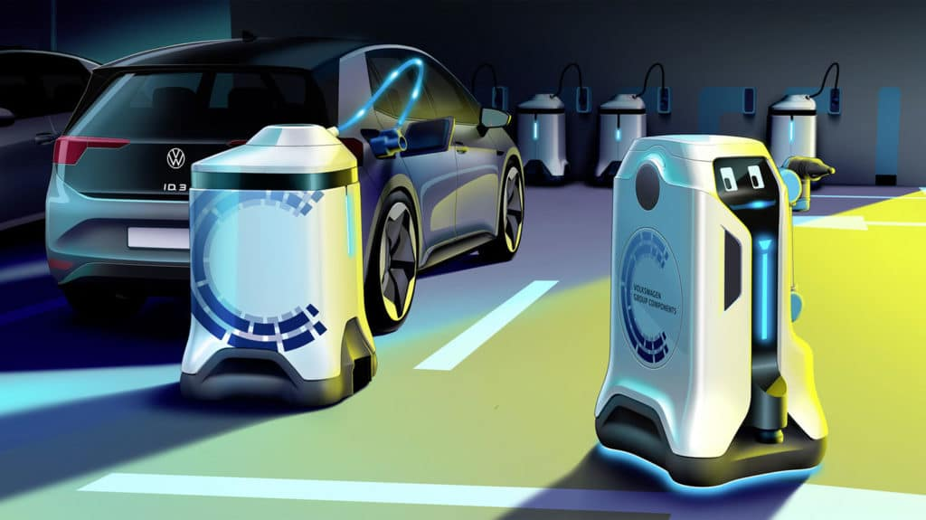 Volkswagen's vision of Mobile EV-Charging Robot becomes a reality