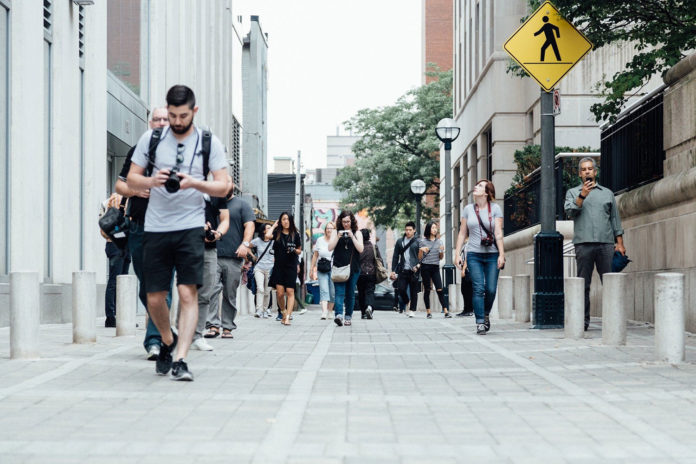 A technique to generate electricity from human walking on a street