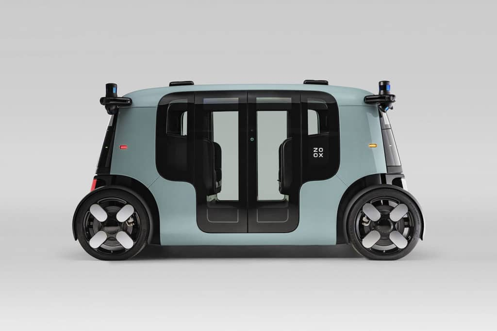 It is designed to navigate urban environments, using bi-directional driving capabilities.