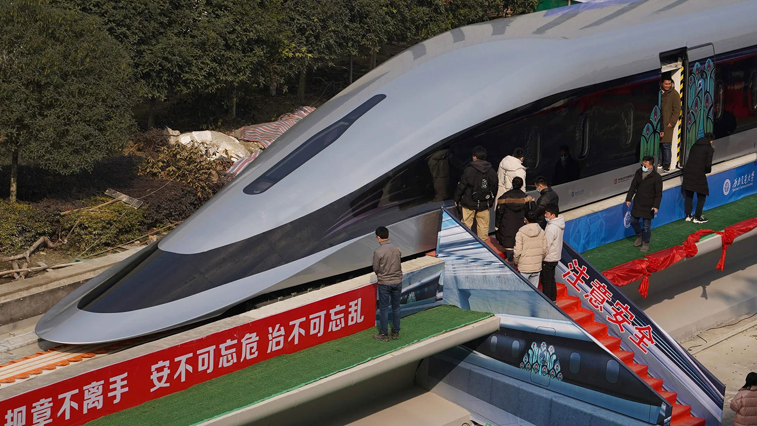 China unveils a new high-speed Maglev train prototype that can reach 620 km/h