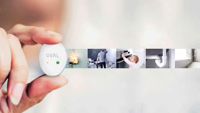 Meet OVAL, an all-in-one sensor that alerts you in real-time to theft, water leaks.