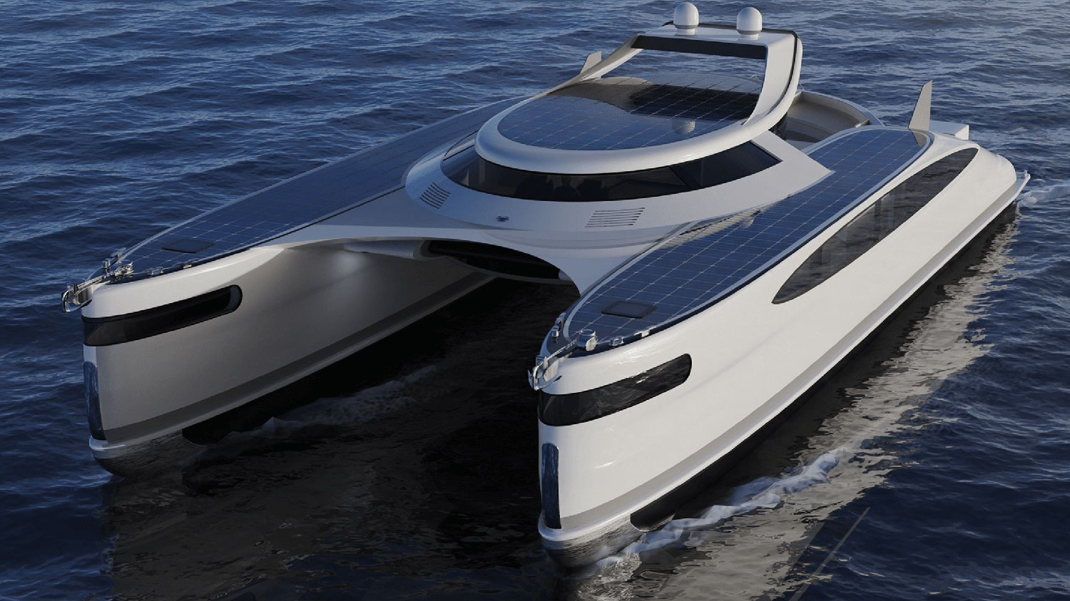 Pagurus, a solar-powered amphibious catamaran capable of moving also on land