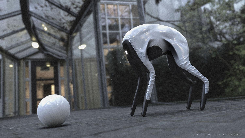 Samsung's faceless dog robot designed for your surveillance needs.