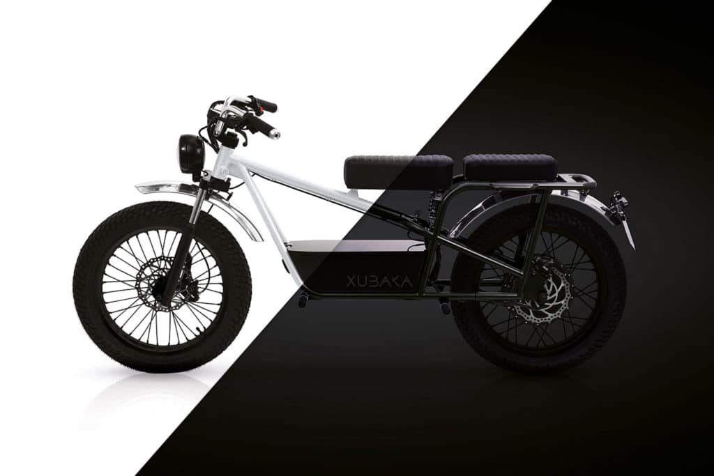 Sodium Cycles Xubaka, a 50 mph light electric motorcycle with sodium ion battery.