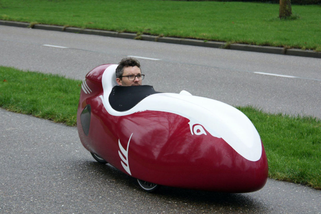 Snoek is the world's fastest velomobile with ultra-neat aerodynamics.