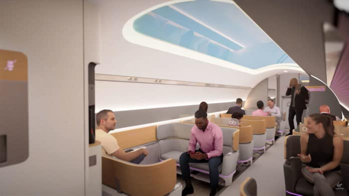 Virgin Hyperloop shows its vision for the future hyperloop experience.