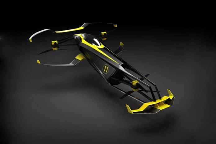 MACA Carcopter, an impressive human-piloted H2 racing copter.