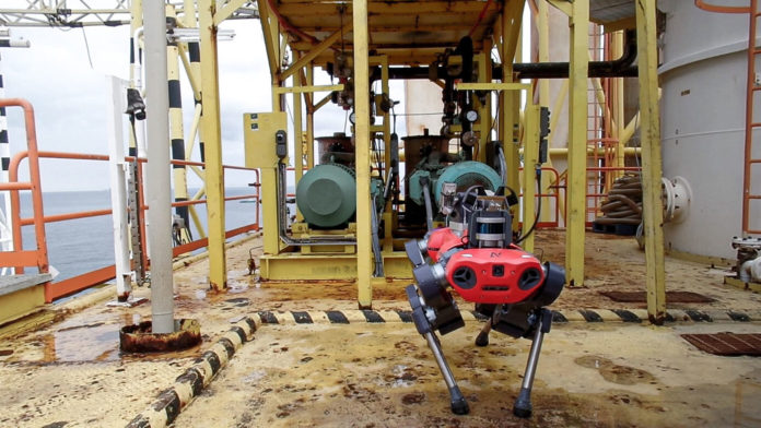 Explosives-certified ANYmal robot performs inspection at Petronas' oil and gas platform