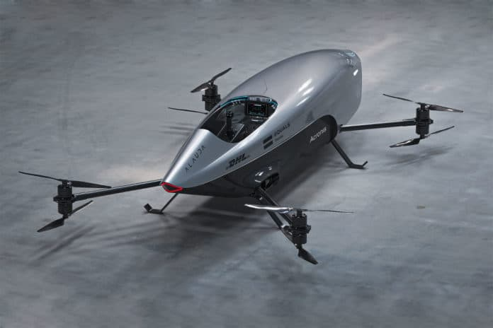 World's first electric flying race car Airspeeder Mk3 ready to race.