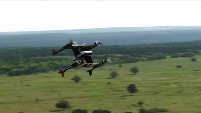 Bell's APT 70 eVTOL demonstrated autonomous package delivery.