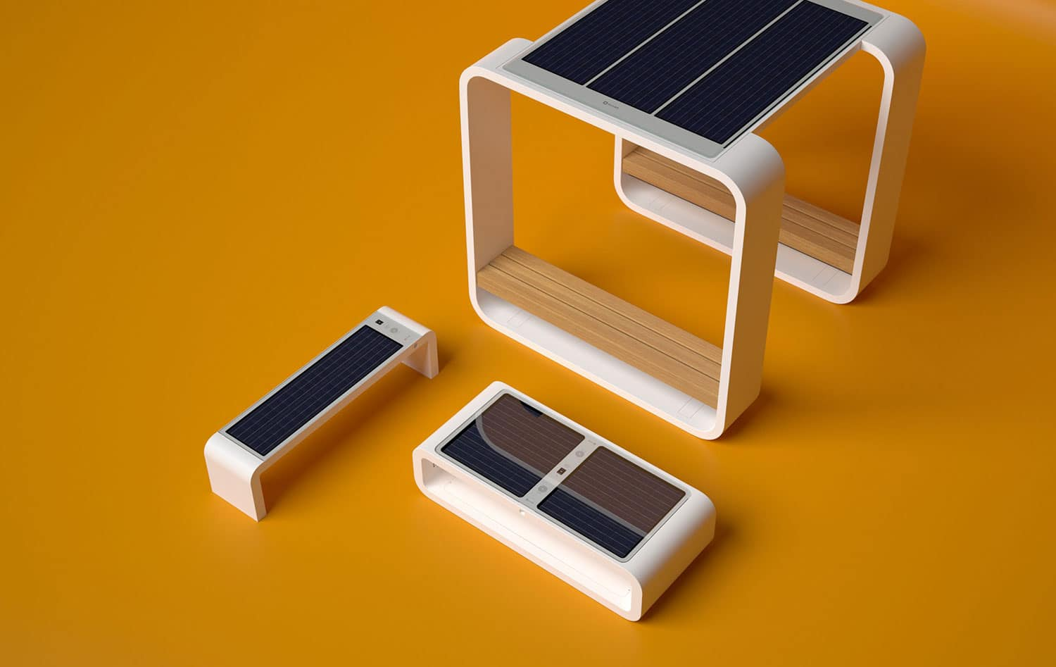 Solar-powered Smartbench provides charging ports and WiFi hotspot