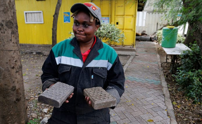 Kenyan entrepreneur turns plastic waste into bricks, stronger than concrete